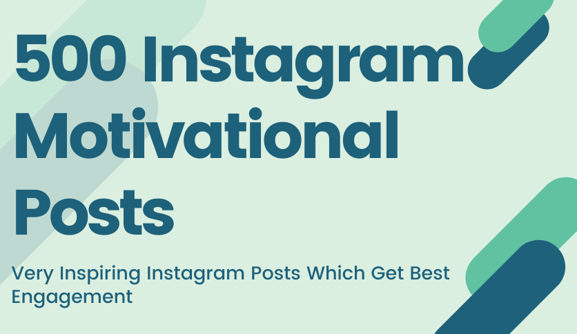 I will Design 500 Inspirational Quotes Instagram Posts With Your Logo on it