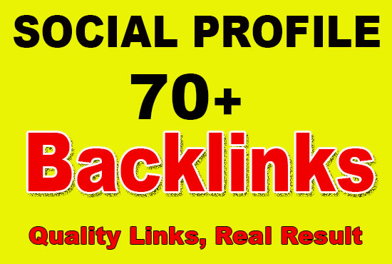 70 High Quality Social Bookmarks Backlinks