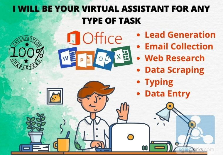 I will be your virtual assistant for any type of online or, offline task.