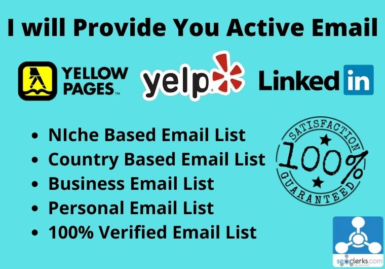 I will provide you targeted active email list.