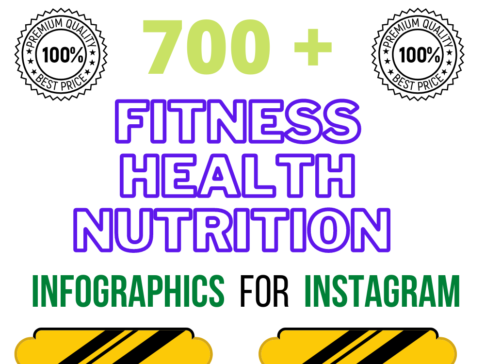 700 health fitness nutrition infographics for instagram