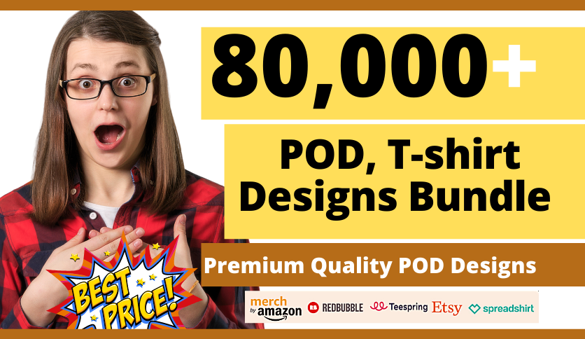 provide 80k bulk editable t shirt Designs in 24 hour for all pod platform