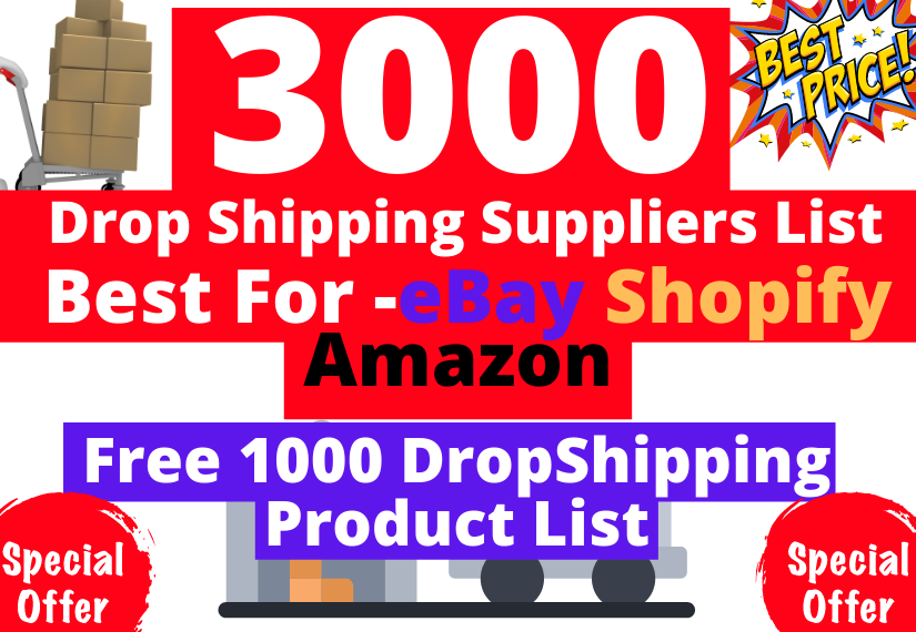 provide you 3000 dropshipping wholesale suppliers list