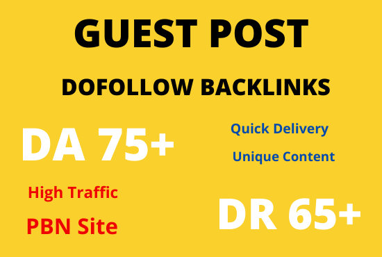 I will publish high quality SEO guest post with backlink