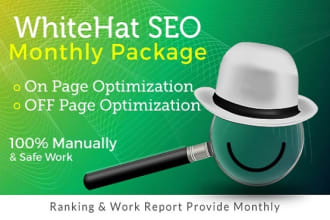 I will do monthly seo services guaranteed first page rankings