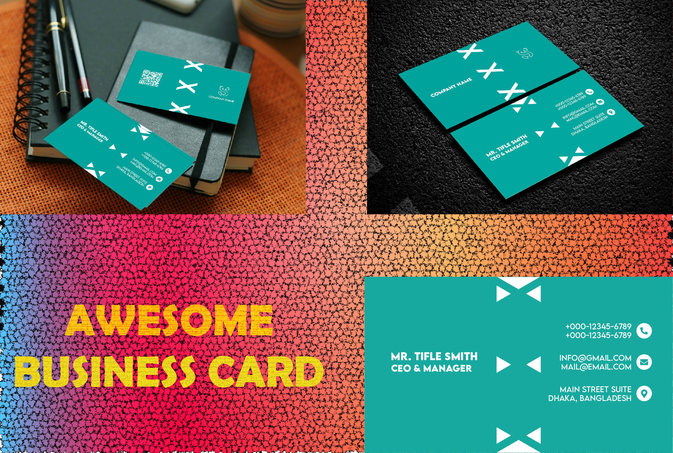 I will do awesome professional business card design