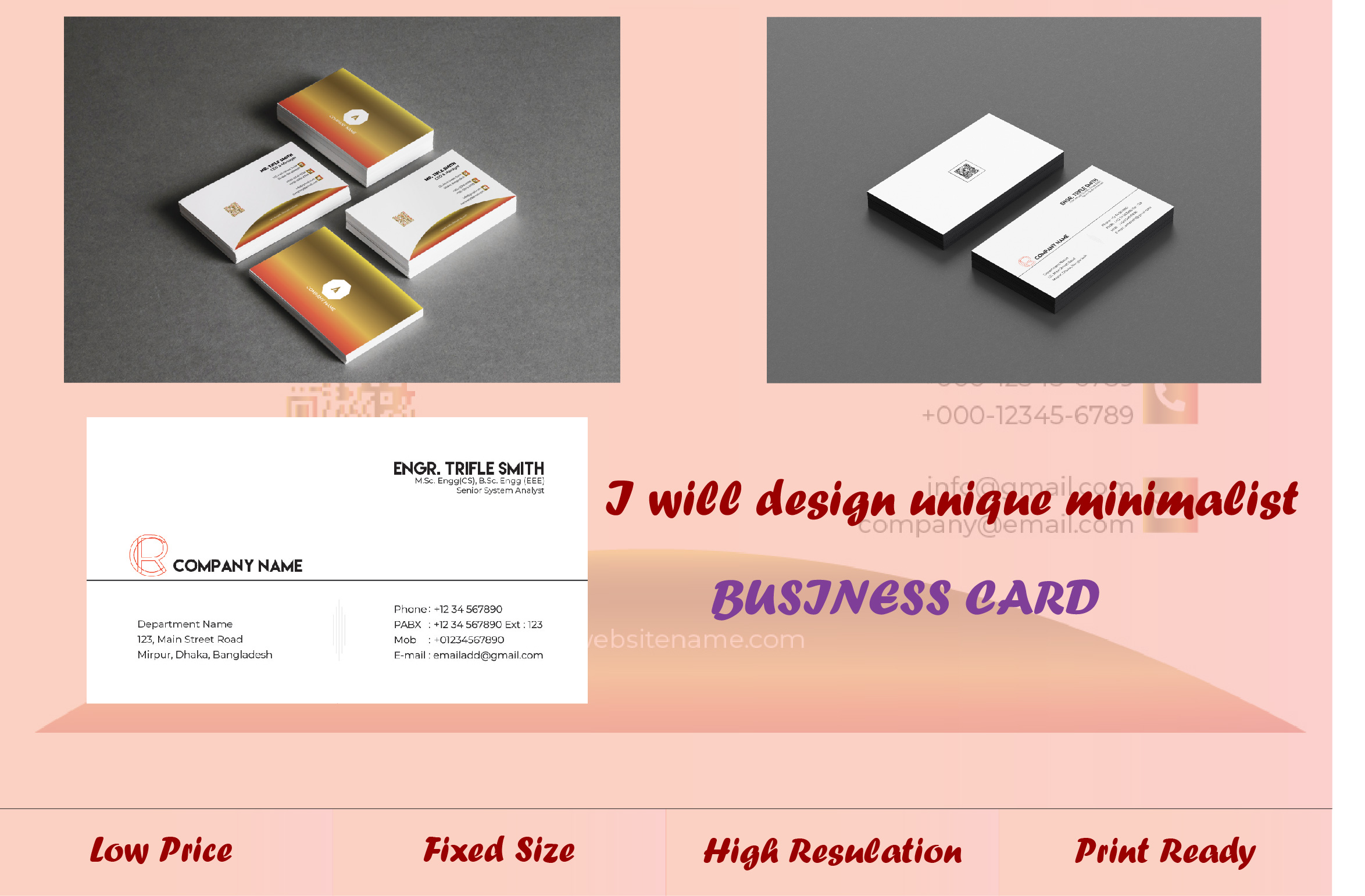 Make Unique and Professional Business Card