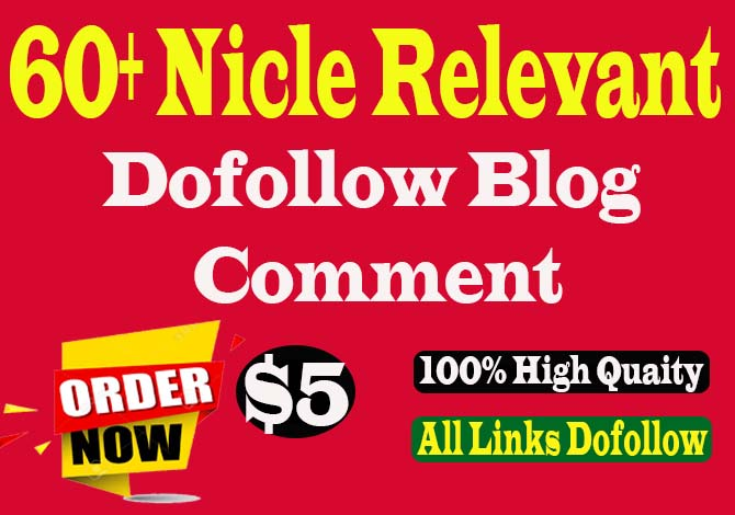 Give 60 HQ blog comments backlinks unique domains SEO service