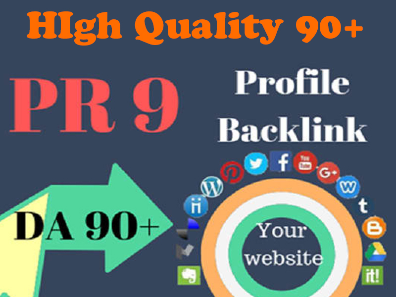 I Will Provide High Quality PR9 DA 90+ Profile Backlinks To Improve Your Website