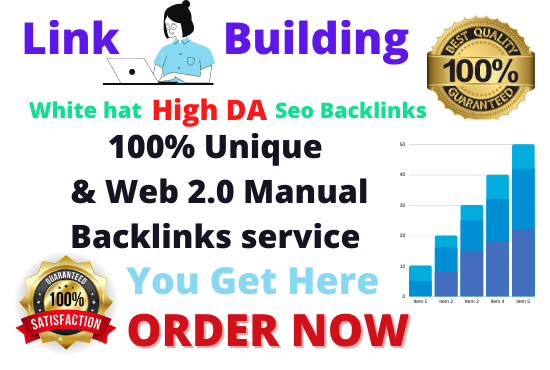 SEO backlinks white hat High DA manual link building service