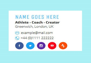 I will create HTML email signature within 2hrs