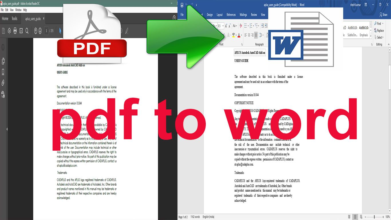 I will do scanned pages,  PDF convert to word