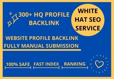 I will do 100 HQ dofollow profile backlinks for Manual SEO link building