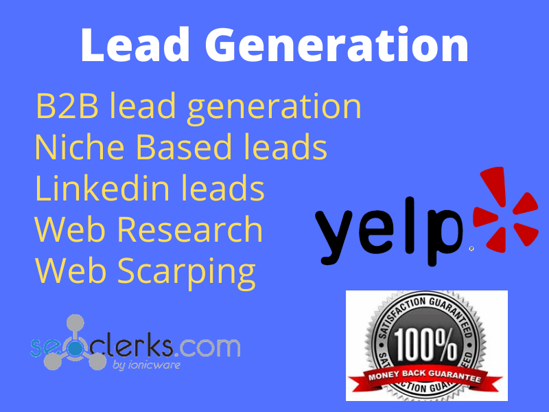 I will do b2b lead generation for any platform
