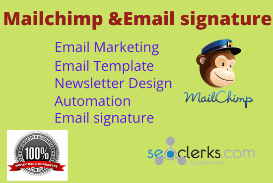 I will do a perfect Mailchimp email templet design and Html email signature.
