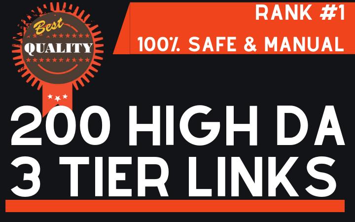 200+ High DA Authority Backlinks to Rank #1