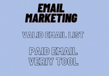 I will provide you any country based 100 valid email list