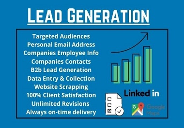 I will generate targeted b2b lead generation