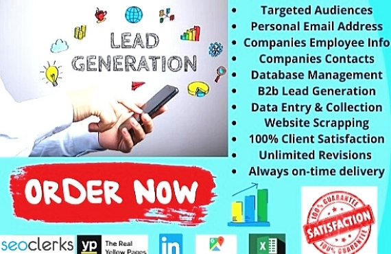 I will provide B2b lead generation and email marketing and LinkedIn research