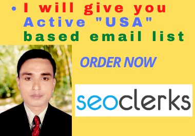 """I will provide you Active """"USA"""" based email list"""