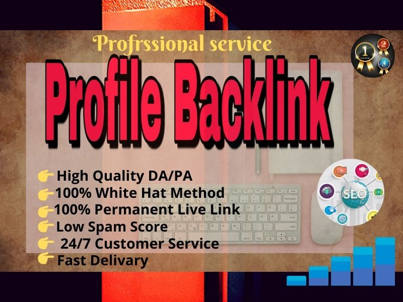 I will create 100 High Quality DA/PA SEO Profile Backlink for your profile ranking