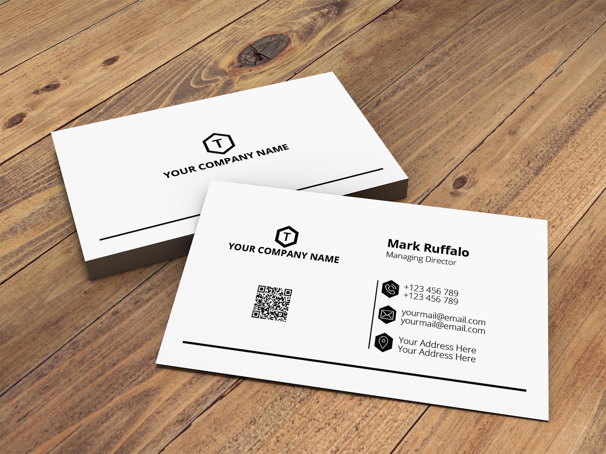 I will do professional modern business card design