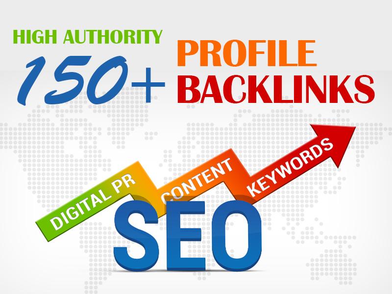 I Will Create 150+ High Authority Profile SEO Backlinks Manually