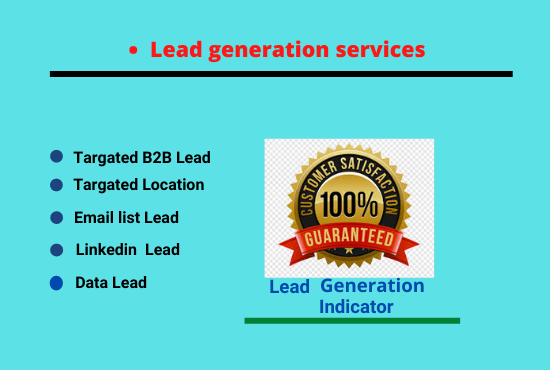 I will do collect targeted b2b Lead generation and Linkedin Lead generation any targeted industry an