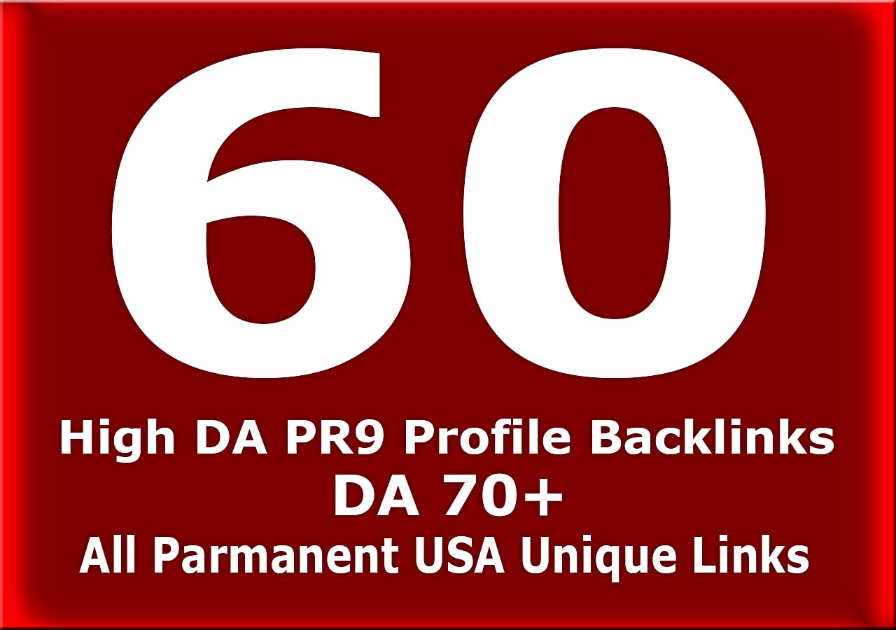 I will give you high quality 60 USA pr9,  dofollow link building seo backlinks