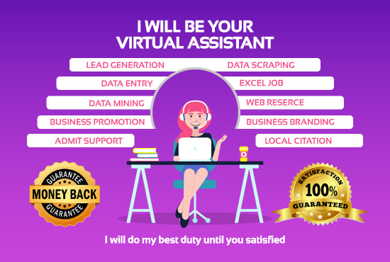 I will be your virtual assistant for data entry,  web research & lead generation