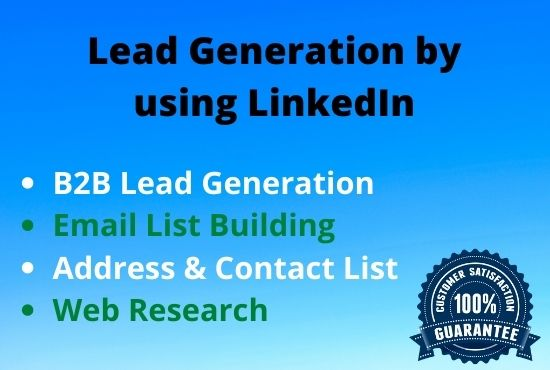 I will do targeted b2b lead generation with prospect list
