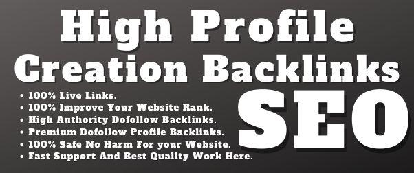 Manually Create 60 Do-Follow Profile Creation Backlinks