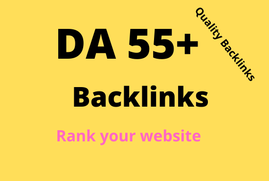 I will give you 50+ High authority Back links