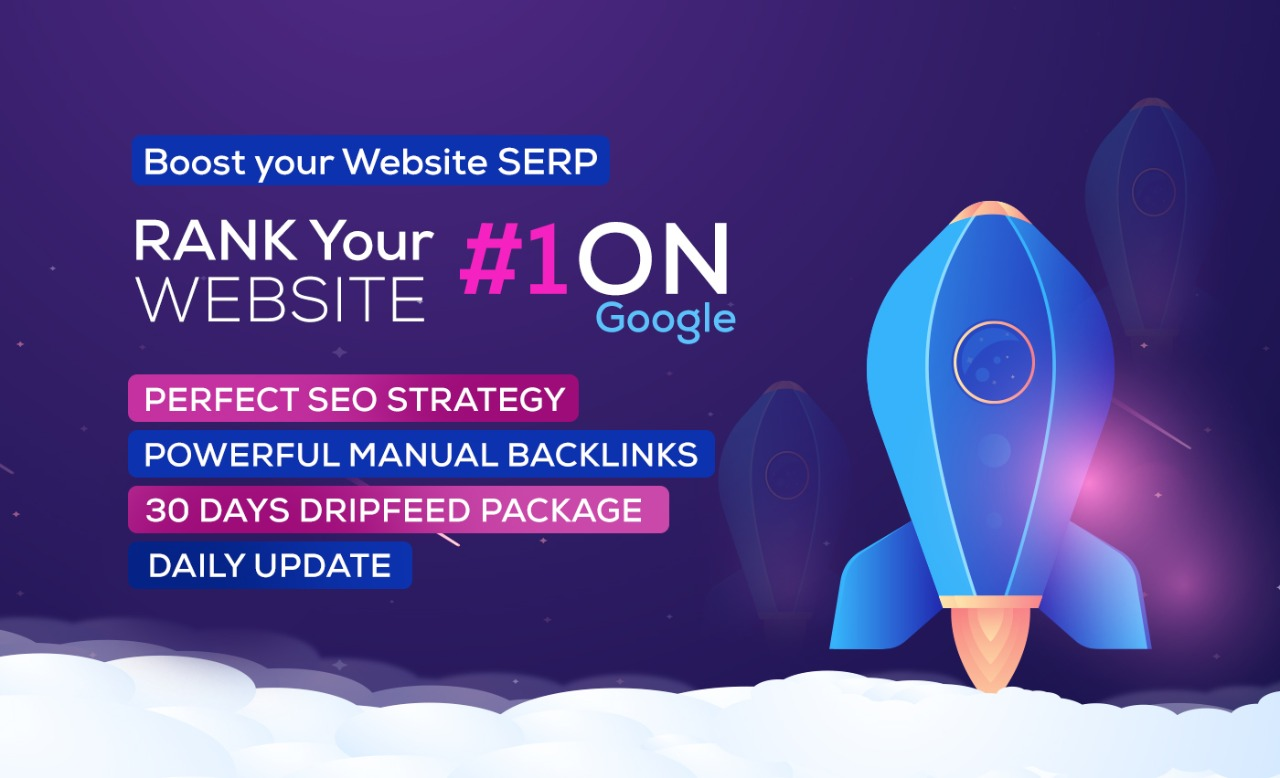 Rank Your Website On Google,  30 Days Dripfeed Manual SEO Backlinks