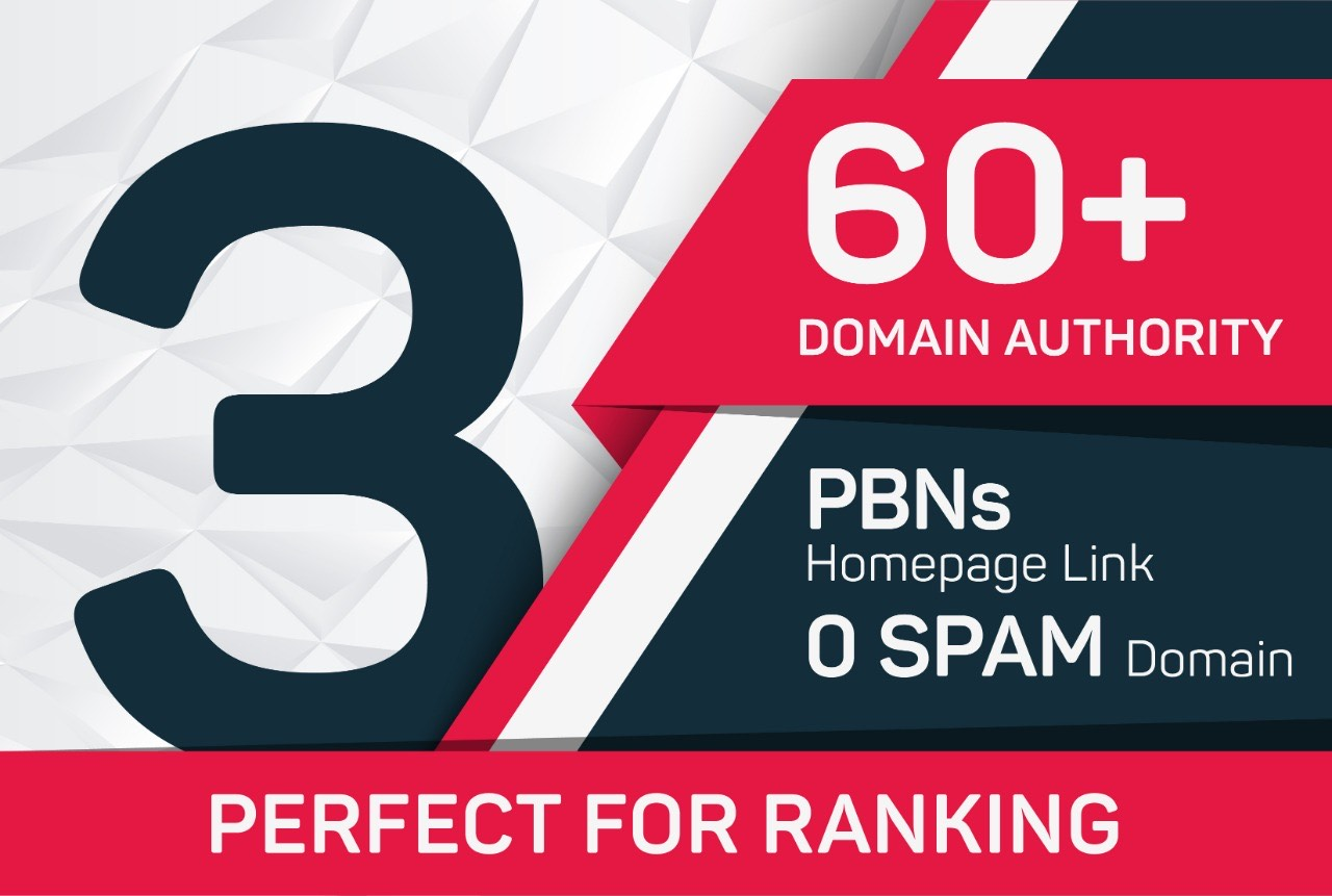 3 HOME PAGE STIKY 60 plus high PA DA Domains