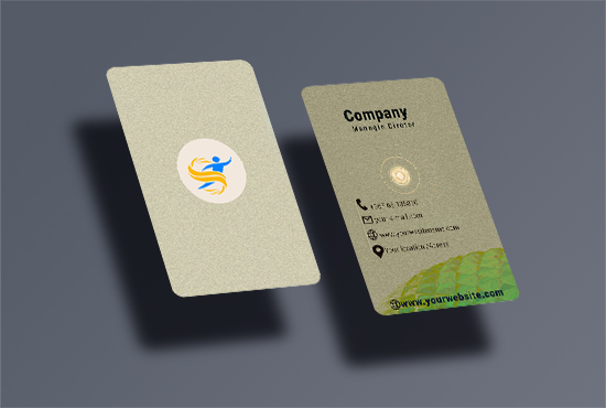 I will design business cards with stationery