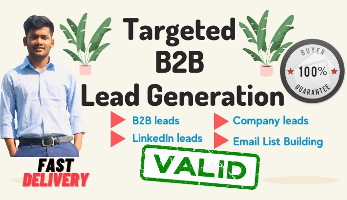 I will provide targeted 200 b2b lead generation