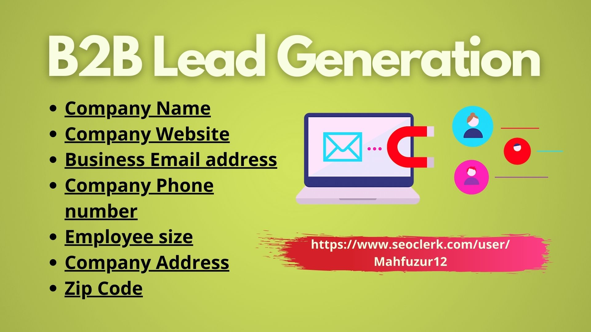 I will generate 200 targeted b2b leads