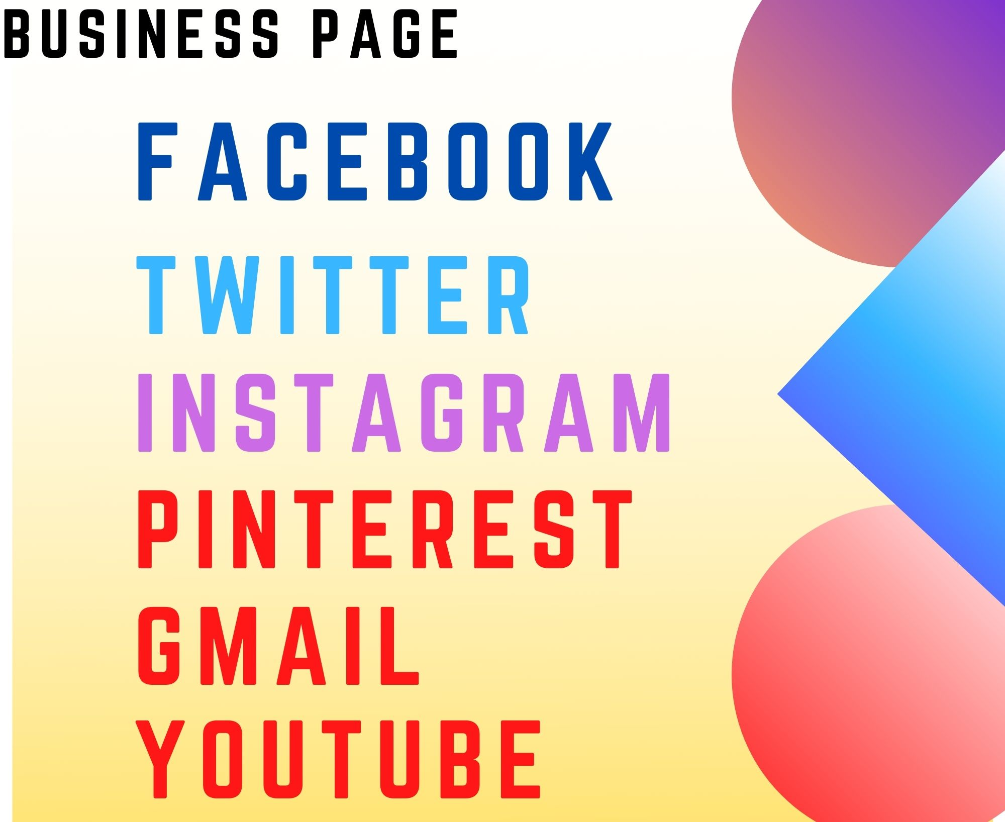 I will create,  optimize and design All Social Media business page