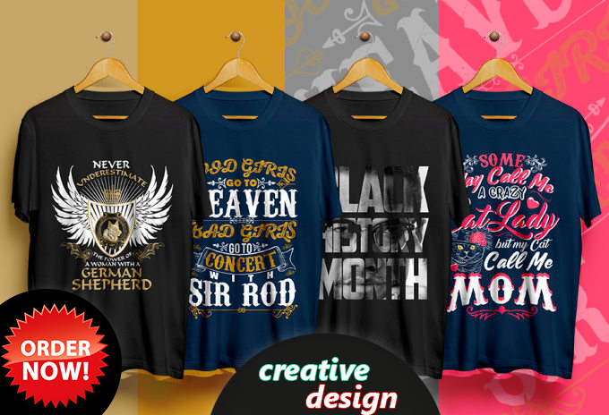 i will provide creative and trendy t shirt design