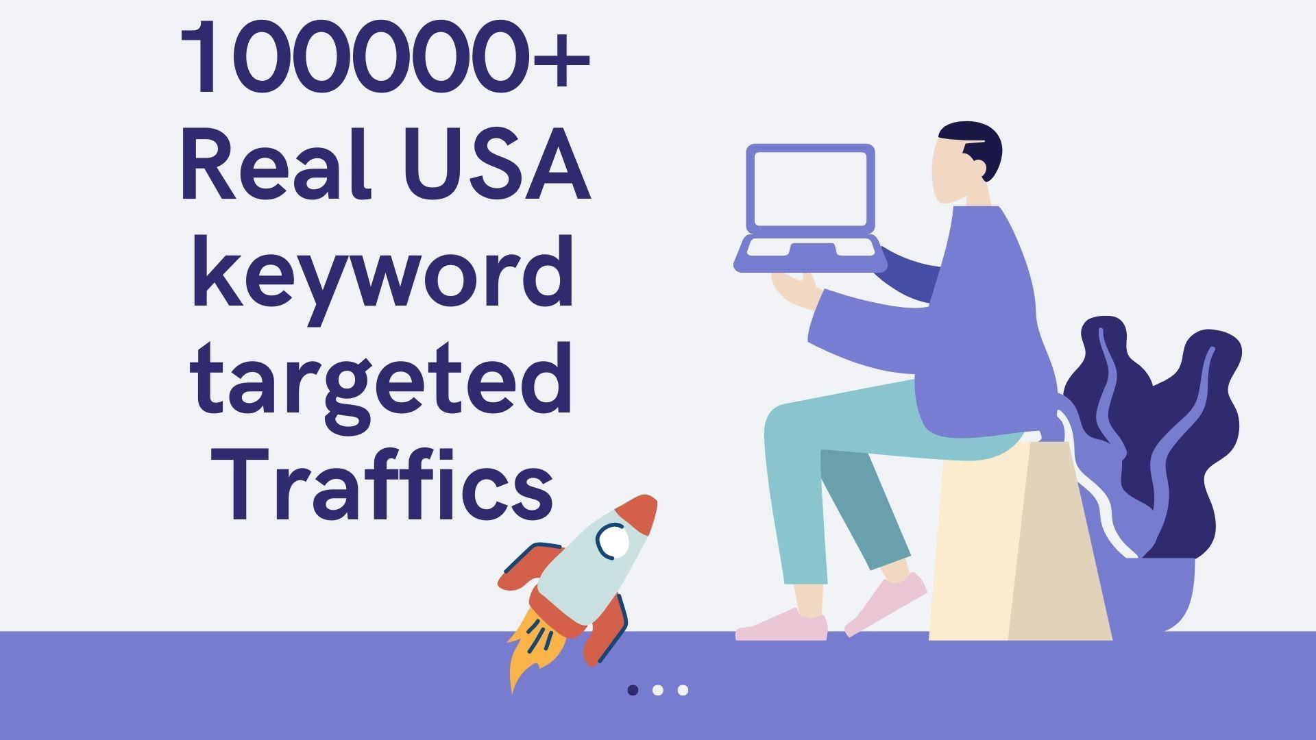 100000+ Real USA keyword targeted Traffic