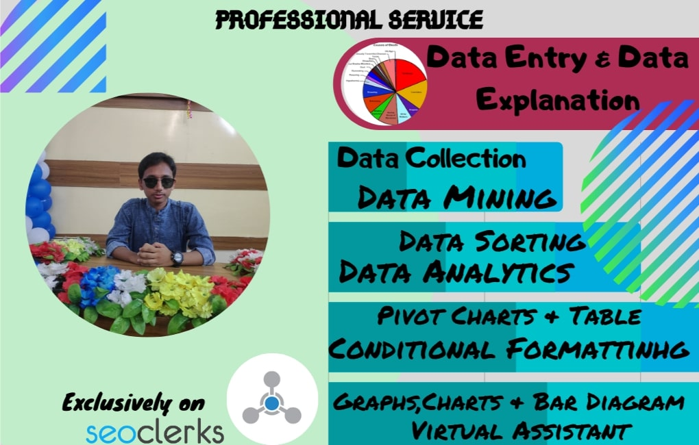 I will do any kind of data entry and business analyzing works within 1 day
