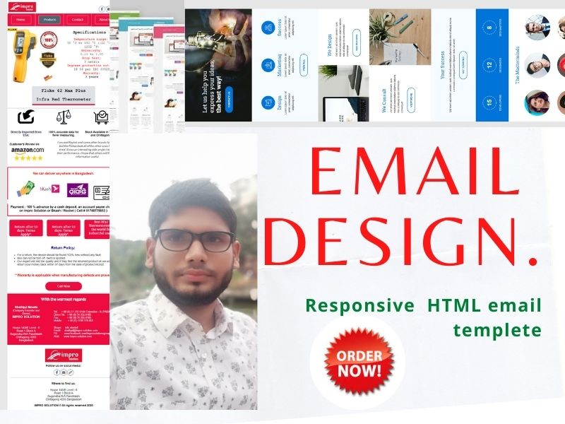 I will Design HTML email templates