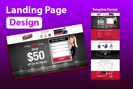 I will create responsive wordpress landing page design,  elementor landing page