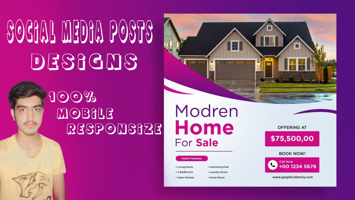 I will design outstanding and stylish social media post designs