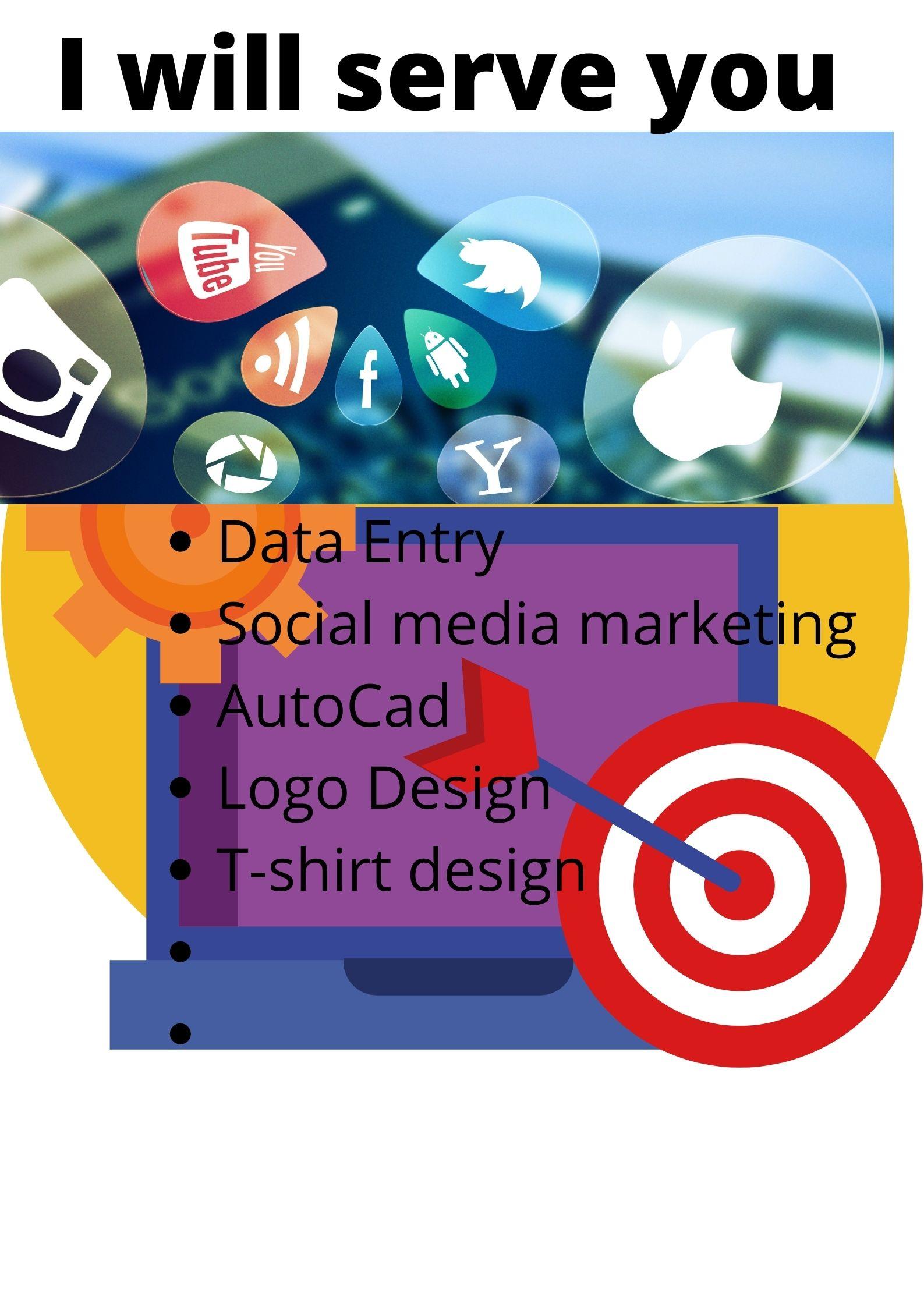 get service on data entry,  facebook marketing.