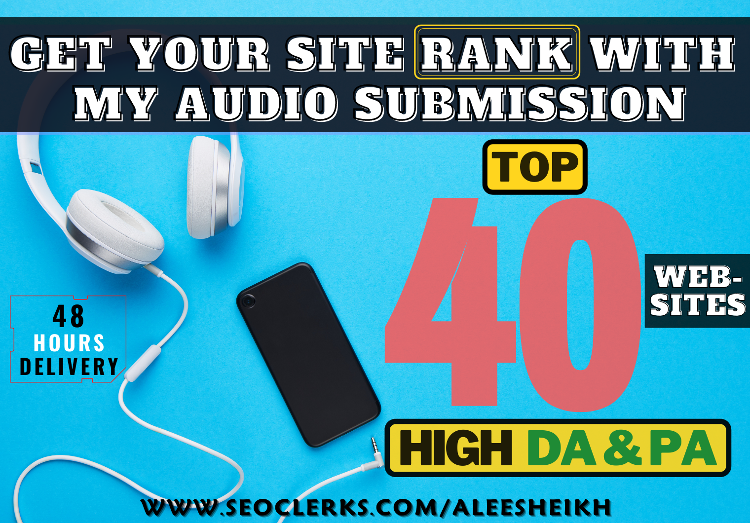 I will do audio submission to 40 high DA & PA audio sharing sites