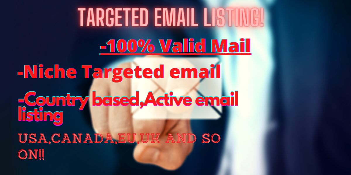 I will provide niche + Valid + Fresh + Active + Verified Emails