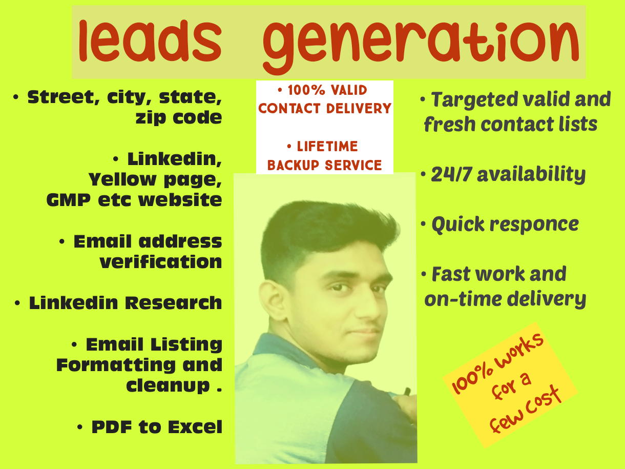 Valid Email address Provider or Lead Generation