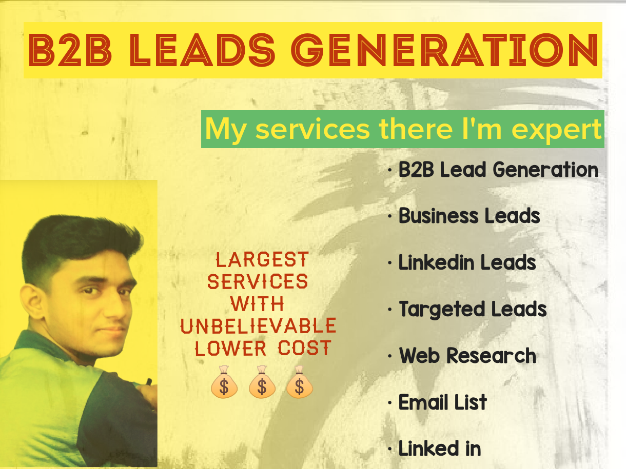 I'll provide B2B leads generation and web research for you